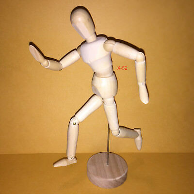 MANNEQUIN figure for DRAWING (8 inches tall / 20 cm) wooded art supply toy