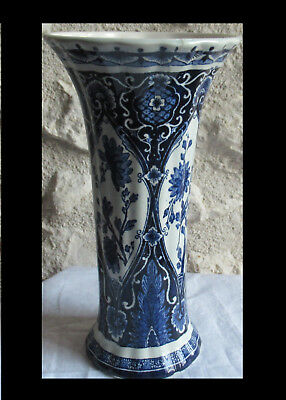 vase Delfts Petrus Regout & cie  Made in Hollande Maastrich