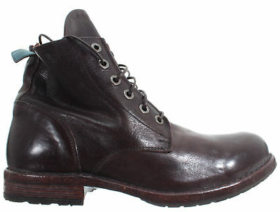 MOMA Men/'s Shoes Ankle Boots 58804-CC Crosta Brown Vintage Made In Italy New
