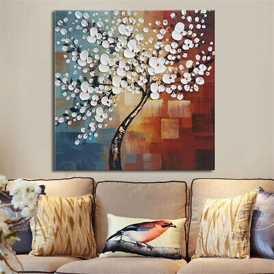 Framed Flower Tree Abstract Canvas Print Paintings Wall Picture Art Home