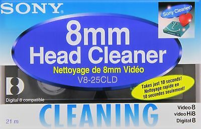 Sony Head Cleaning Cassette For Hi8/ Digital 8/ 8 mm Video V825CLD