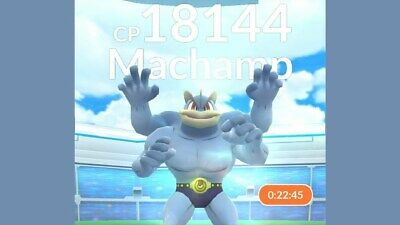 Pokemon Go Catching Service - BOOSTED MACHAMP 2000+CP - Hand Caught - No Spoof