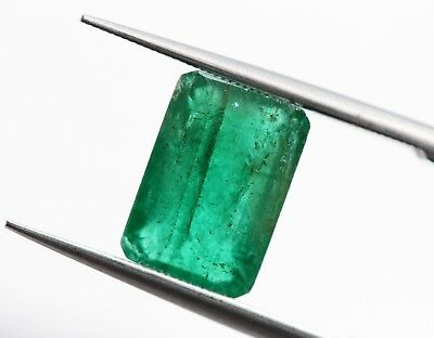 2.18 Ct Natural Emerald Loose Octagon Cut Top Grade No Heat Rich Green Gemstone