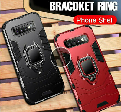 For Samsung Galaxy S10+ S10E S9 Car Magnetic Bracket Ring Shockproof Armor Case