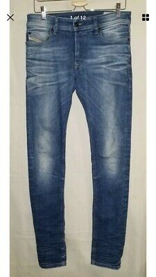 83e0fc3d MEN'S DIESEL SLEENKER Slim Skinny Stretch Jeans Dark Wash 31 x 34 ...