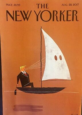 """The New Yorker Magazine. ~ August 28, 2017 """"Donald Trump"""" Cover"""