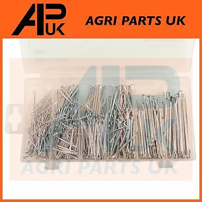 555 Piece Assorted Steel Split cotter pins Metric Fixings Mixed Lengths 25-64mm