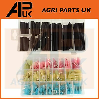 367pc Electrical Wire Heat Shrink terminals & Tubing assortment connectors Cable