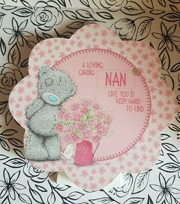 Me To You Tatty Teddy Mothers Day Birthday Plaque. A loving caring Nan