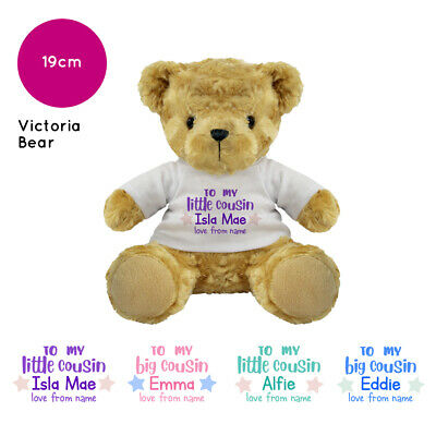 Personalised Name Gifts for Little Big Cousin Victoria Teddy Bear Gift Ideas