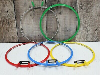 Nurge Embroidery Hoop Cross Stitch Metal Spring Tension Ring & Frame 20cm