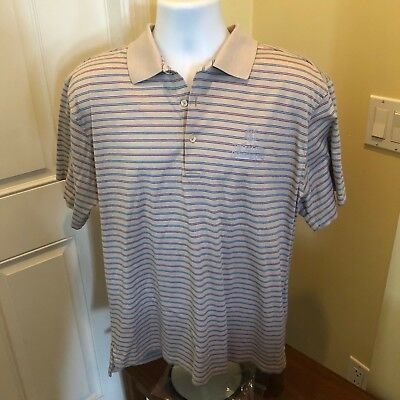 5c02e8b45d9 The Course Old Course St Andrews Links Peter Millar Golf Polo Shirt Mens M  Tan