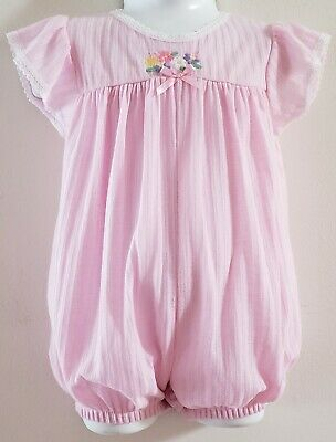 4d6ed8a8398 Vintage Carter s Girls Size 18-24 Months Pink Bubble Romper Floral Lace USA  MADE
