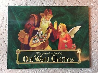 OLD WORLD CHRISTMAS Santa Angel with Present Ornament - $12 99