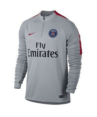 e7f5e0d4afe Nike Paris Saint-Germain PSG Squad Drill Top Grey Size Extra Large XL  809738-