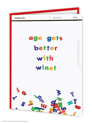 Funny Birthday Cards Witty Amusing Comedy Humour Quirky Novelty Joke Wine Lovers