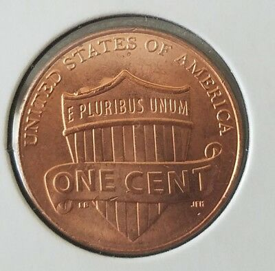 2017 P LINCOLN cent ERROR CUD ON REVERSE SHIELD BU FROM BANK ROLL