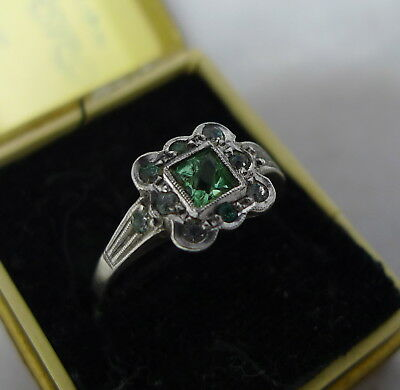 Antique 9ct Gold Paste Ring Size O.5 2.1g 0.9cm A694217