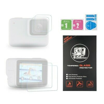 GoPro Hero 7 White Silver  LCD Screen and Lens Tempered Glass Protector 9H