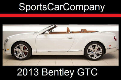 2013 Bentley Continental GTC CONTINENTAL GTC 2013 BENTLEY GTC WHITE SHOWSTOPPER LOW MILE GORGEOUS INSIDE & OUT REDUCED $15k!