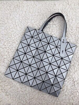9b63493c5362 AUTHENTIC JAPAN EXCLUSIVE BAO BAO ISSEY MIYAKE Texture Silver Tote ...