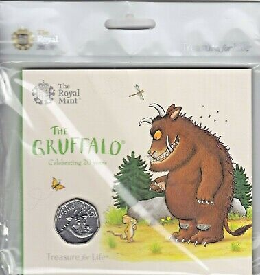 2019 The Gruffalo 50p Fifty Pence Coin ROYAL MINT PACK Brilliant Uncirculated