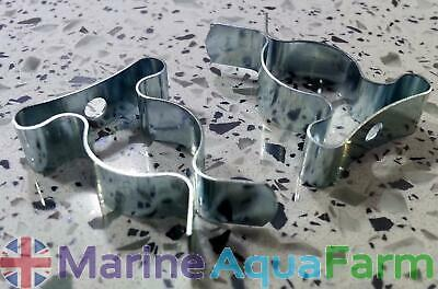AQUARIUM T5 & T8 FLUORESCENT LIGHT TUBE CLIPS x 2, BULB MARINE TROPICAL UNIT