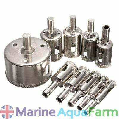 AQUARIUM DIAMOND HOLE CUTTERS 5 10 15 20 25 30 35 40 45 50 55 60mm, BULKHEAD