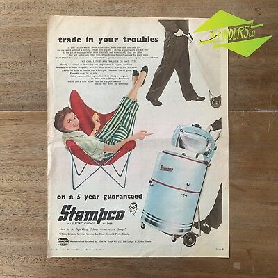 Vintage 1956 Stampco Clothes Washer Original Print Advertisement