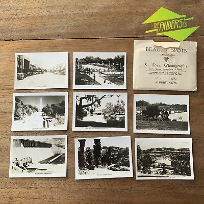 Set X8 Vintage 'Beauty Shots' Of Albury New South Wales Photographs Souvenirs