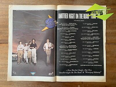 """Vintage 1978 Sherbet 'another Night"""" Tour Original Newspaper Ad Poster"""