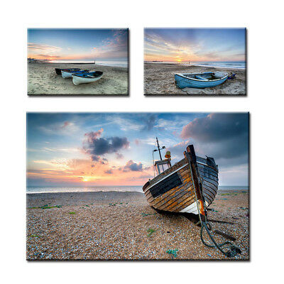 ALS_ Beach Boat Painting Wall Living Room Home Picture Poster Background Decor C