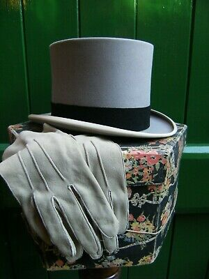 Vintage Top Hat By Woodrow Of Piccaddily And Matching Gloves By Fownes