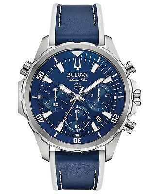 Bulova 96B287 Men's Marine Star Blue Dial Chronograph 43mm Case Watch