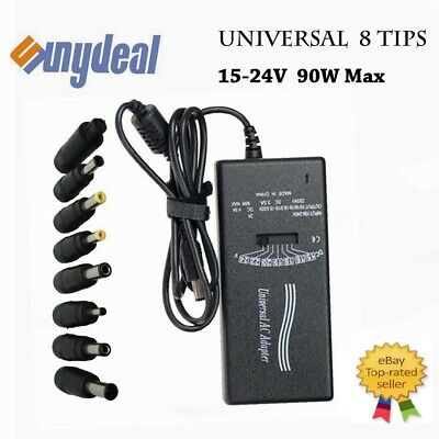 Universal 90W Laptop AC Charger Adapter Cord for Acer Dell HP Toshiba 8-Tips