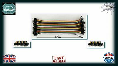 1x Arduino RPi Dupont Cables M-M 40Pin 30cm Jumper Breadboard Wire GPIO AA048