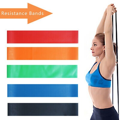 Resistance Bands Loop Set Exercise Sports Fitness Home Gym Yoga Latex UK Ship