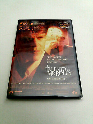 "Dvd ""El Talento De Mr Ripley"" Anthony Minghella Matt Damon Gwyneth Paltrow Jude"