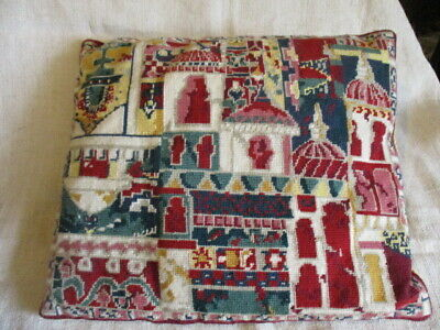 Vintage Needlepoint Cushion, Ehrman Tapestry. Complete with pad. Bangalor design