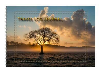 Caravan or Motorhome Owners, Travel Record Log & Journal A5 - Sun & Tree D15