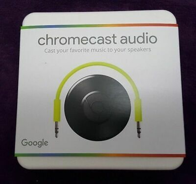 BRAND NEW Google CHROMECAST Audio Media Streamer Factory Sealed, FREE SHIPPING!