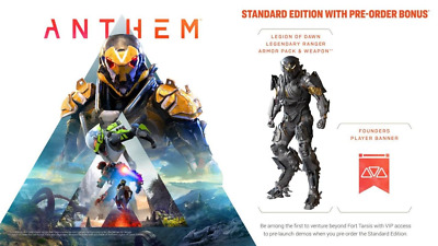Anthem Legion of Dawn Armor/Weapon Bonus Pack DLC *PS4 Playstation 4 CD-KEY* 🔑