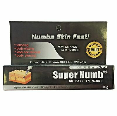 10g - 200g SUPER NUMB Skin Numbing Cream Tattoo, Piercings, Waxing, Laser Dr