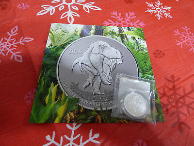 2016  20$ for 20$ .9999  FINE SILVER COIN  CANADA  T - REX  WITH CERTIFICATE