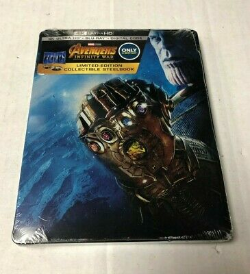 Avengers Infinity War 4K Ultra HD Blu-Ray Steelbook NEW IMPERFECTIONS