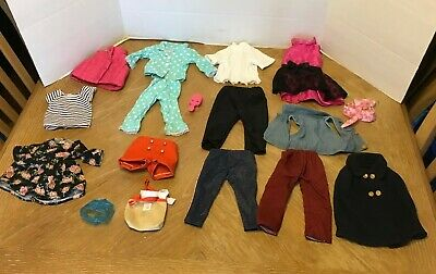 """Lot of 18"""" Doll Clothes Outfits that fit American Girl Dolls Pajamas Vest Pants"""