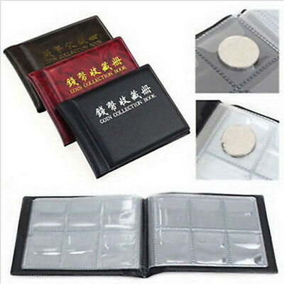 1x 60 Coin Holder Money Storage Pockets Penny Collection Album Book Collecting .