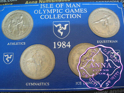 Isle of Man 1984 Olympic Games Crown X 4