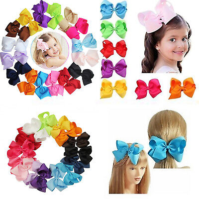 40pcs Baby Girls Big 3 Inch Hair Bows Alligator Hair Clips-Baby Girl Gift Set CA