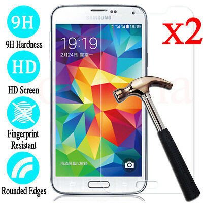 2x For Samsung Galaxy S9 8 7 6 5 Tempered Glass Protective Screen Protector Film